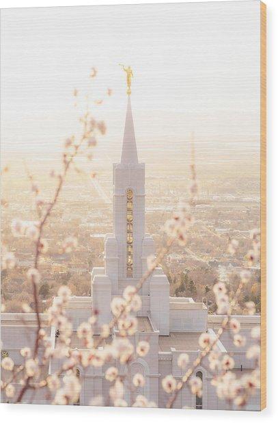 Bountiful Temple Blooms Wood Print