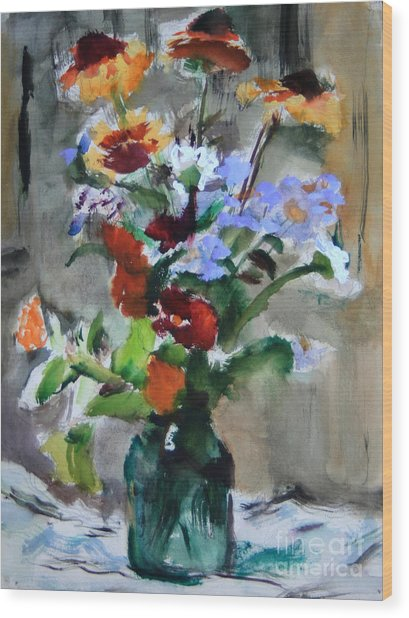 Bouquet Wood Print by Andrey Semionov