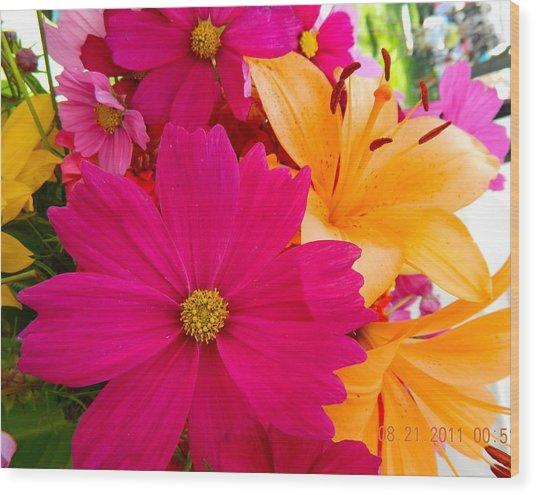Bouquet Of Beauty Wood Print