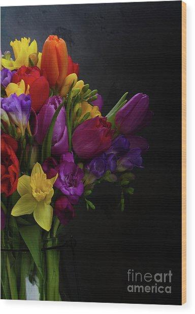 Flowers Dutch Style Wood Print
