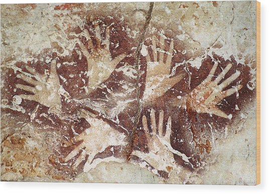 Bouquet Of Hands - Ilas Kenceng Wood Print