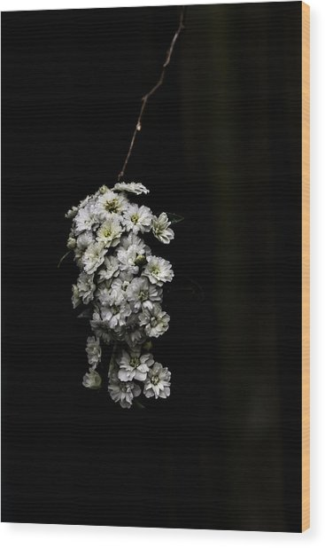 Bouquet Of White Wood Print