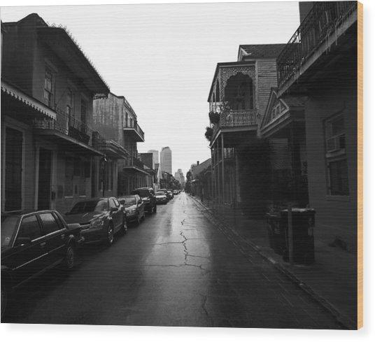 Bourbon Street In The Rain Wood Print