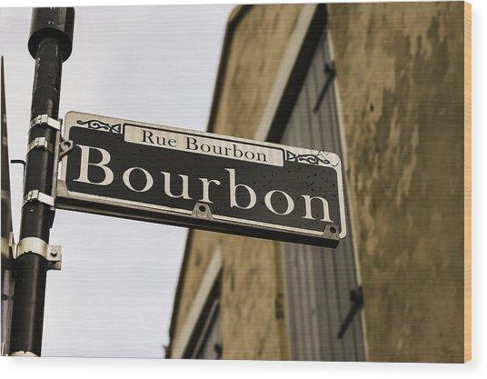 Bourbon Street, New Orleans, Louisiana Wood Print