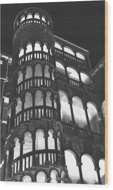 Bovolo Staircase In Venice In Negative Wood Print by Michael Henderson