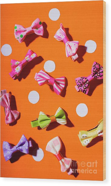 Bow Tie Party Wood Print