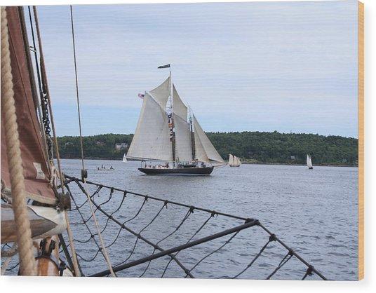 Bowditch Under Full Sail Wood Print