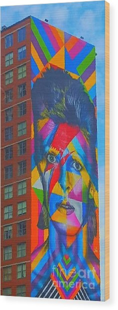 Bowie Wood Print by Stacey Brooks