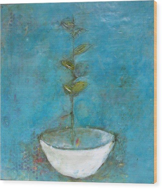 Bowl 8 Wood Print by Lynn Bregman-Blass