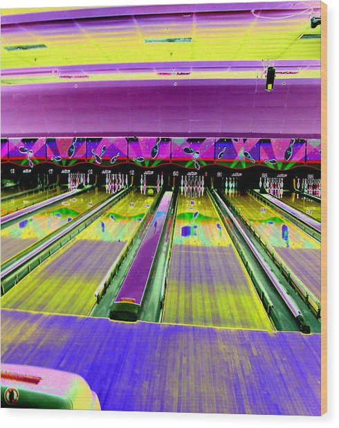 Bowling Alley Wood Print by Peter  McIntosh