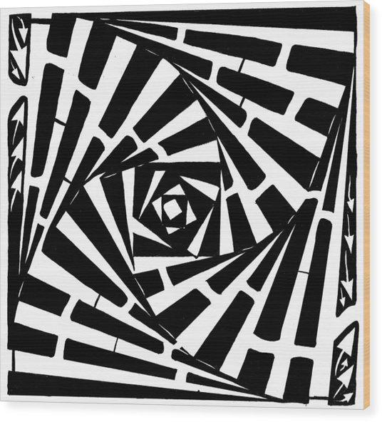 Box In A Box Maze Wood Print by Yonatan Frimer Maze Artist