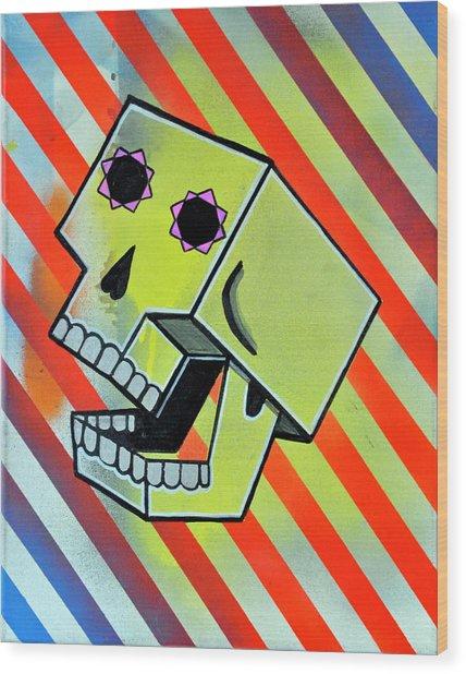 Box Skull Wood Print