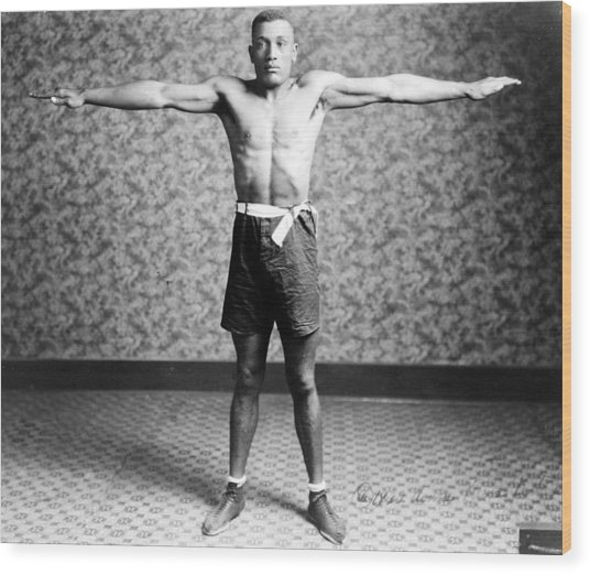 Boxing. Boxer Tut Jackson, Ca. 1922 Wood Print by Everett