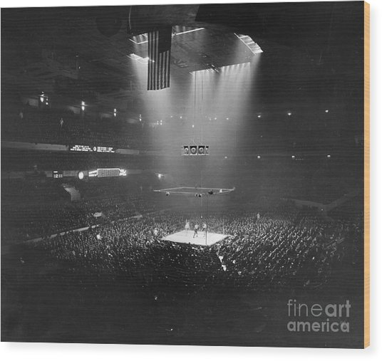 Boxing Match, 1941 Wood Print