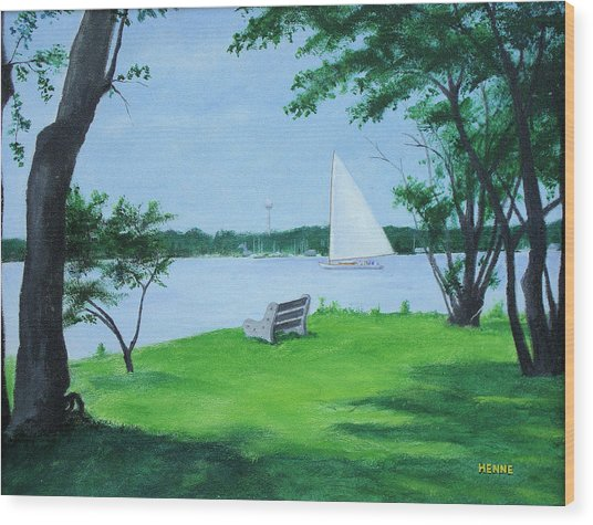 Boy Scout Island Wood Print