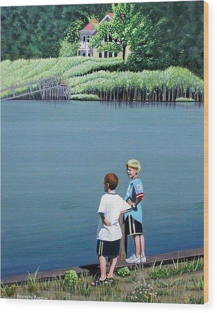 Boys Of Summer Wood Print