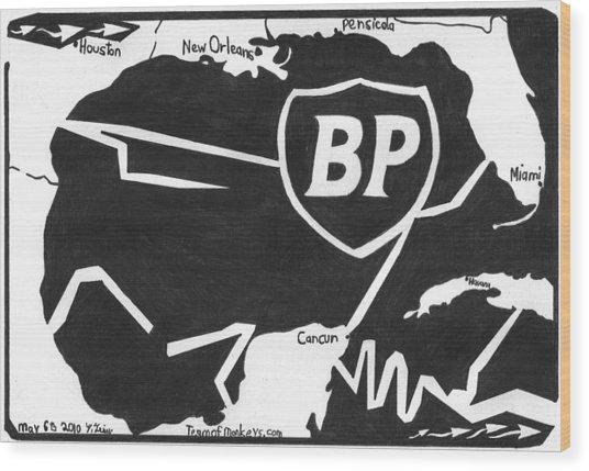 Bp Oil Slick Wood Print by Yonatan Frimer Maze Artist