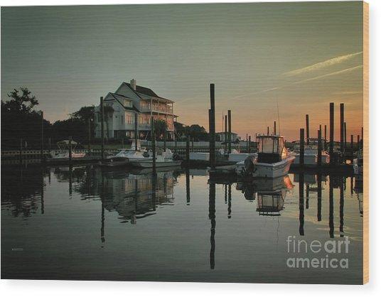 Bradley Creek At Dawn Wood Print