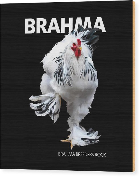Brahma Breeders Rock T-shirt Print Wood Print