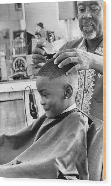 Brian's Haircut Wood Print