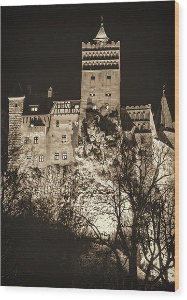 Bran Castle Wood Print