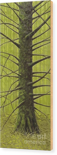 Branch Monster Wood Print