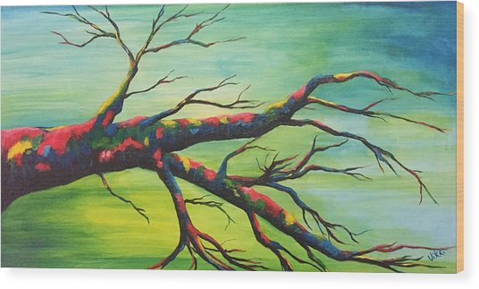 Branching Out In Color Wood Print