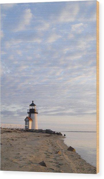 Brant Point Light - Nantucket Wood Print by Henry Krauzyk