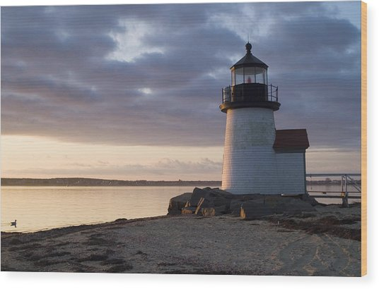 Brant Point Light Number 1 Nantucket Wood Print by Henry Krauzyk