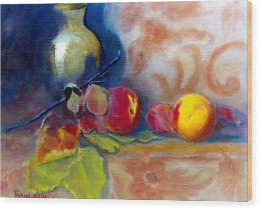 Brass And Peaches Wood Print by Jeanene Stein