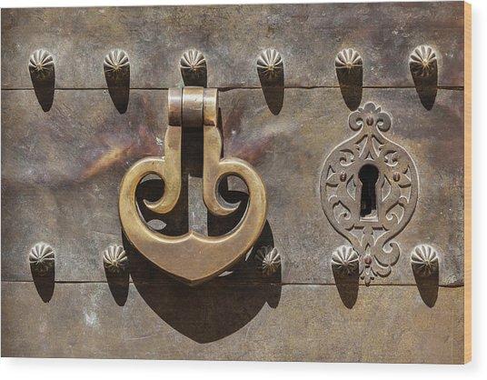 Brass Castle Knocker Wood Print