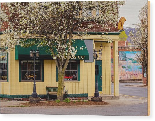 Brass Cat Pub Easthampton Wood Print