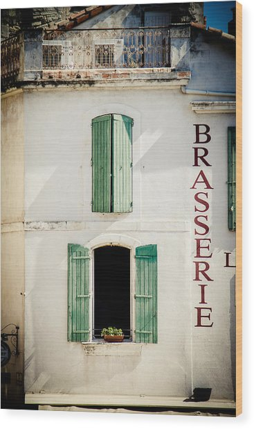 Wood Print featuring the photograph Brasserie by Jason Smith