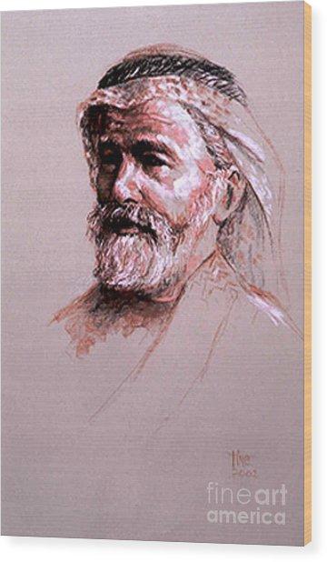 Braving The Desert Wood Print by Tina Siddiqui