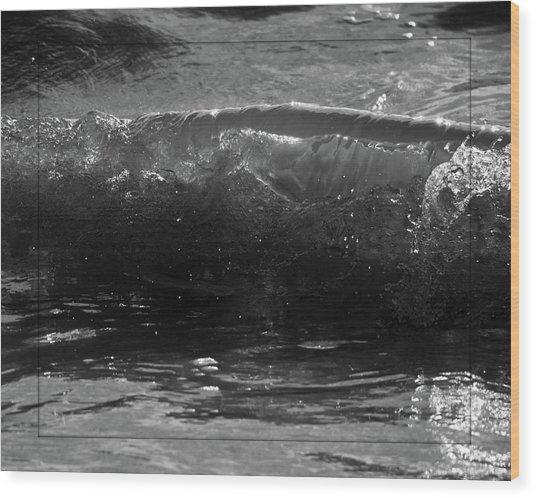 Breach Inlet Morning Waves 1 Wood Print by Melissa Wyatt