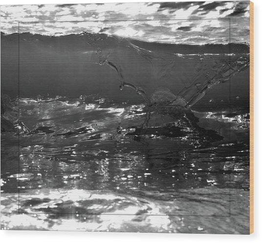 Breach Inlet Morning Waves 2 Wood Print by Melissa Wyatt