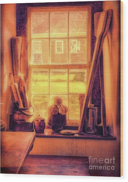 Bread In The Window Wood Print
