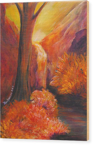 Break Of Dawn Wood Print by Amy Stewart Hale