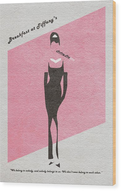 Breakfast At Tiffany's Wood Print