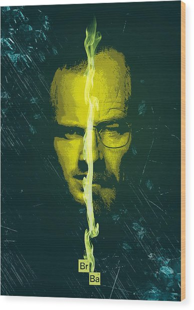 Breaking Bad Poster Heisenberg Print Walter White And Jesse Pinkman Portrait Wall Decor Wood Print