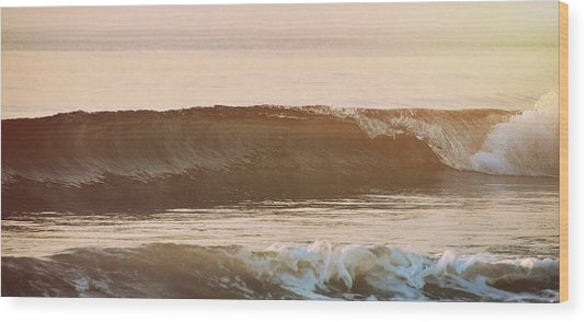 Breaking Wave Wood Print by JAMART Photography