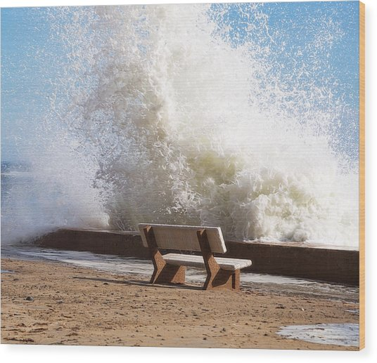 Breaking Wave Wood Print