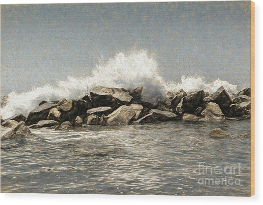 Breakwater 2 Wood Print