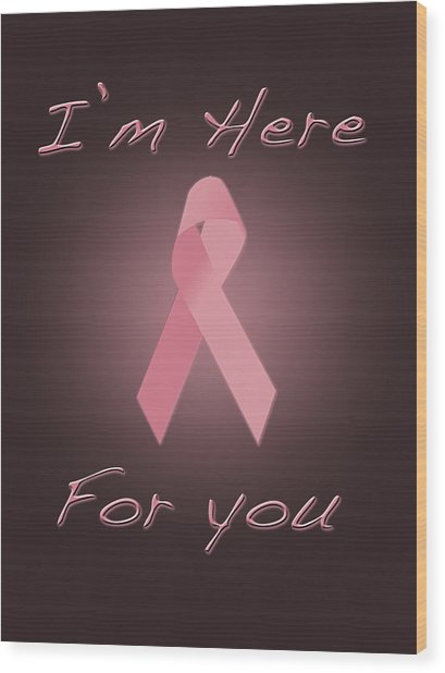 Breast Cancer Wood Print