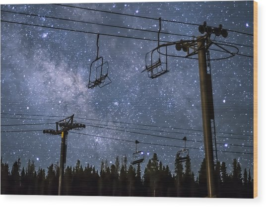 Breckenridge Milky Way Wood Print
