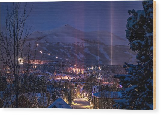 Breckenridge Phenomenon Wood Print