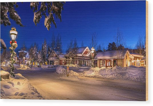 Breckenridge Winter Morning Wood Print