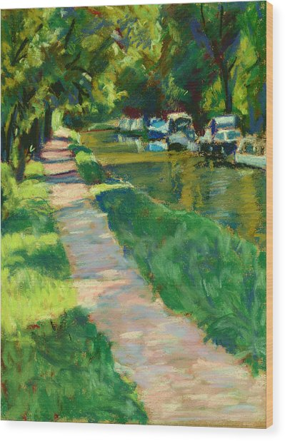 Brecon And Monmouth Canal At Goytre Wharf Wood Print by Judy Adamson