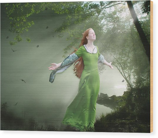 Breeze Wood Print by Marrissia Ruth
