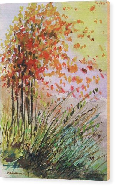 Breezes Wood Print by John Williams